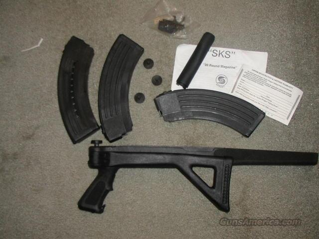 Syn Folding Stock  AND 3  30 Rd Clips For SKS Rifle  Guns > Rifles > SKS Rifles