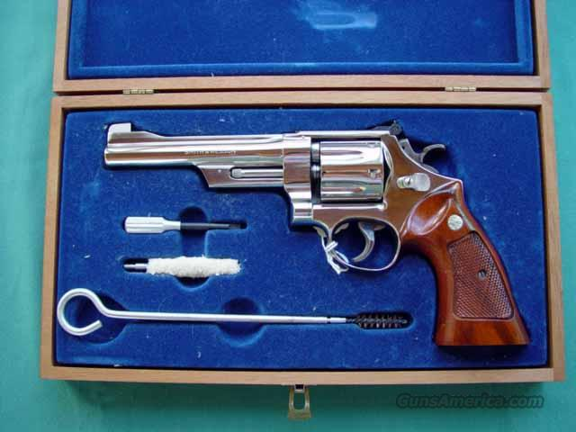 NICKEL 27-2 6 INCH 3 T'S As New Cased  Guns > Pistols > Smith & Wesson Revolvers > Full Frame Revolver
