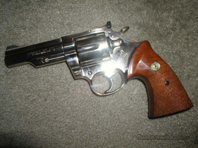 "NICKEL TROOPER MK III 4 ""  Guns > Pistols > Colt Double Action Revolvers- Modern"