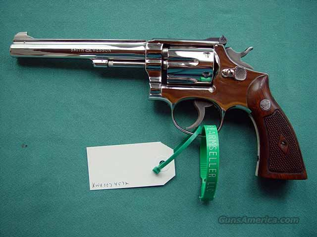 Nickled at Factory with  Letter Pre-Model 17 1949 IN BOX  Guns > Pistols > Smith & Wesson Revolvers > Full Frame Revolver