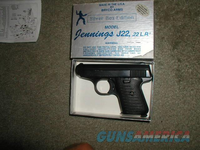 JENNINGS  SILVER EDITION J-22 22LR BLUE $140 U S P S MO DELIVERED  Guns > Pistols > Jennings Pistols