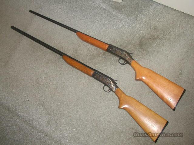 PAIR H&R Model 58'S Topper    TOP BREAK  Guns > Shotguns > Harrington & Richardson Shotguns