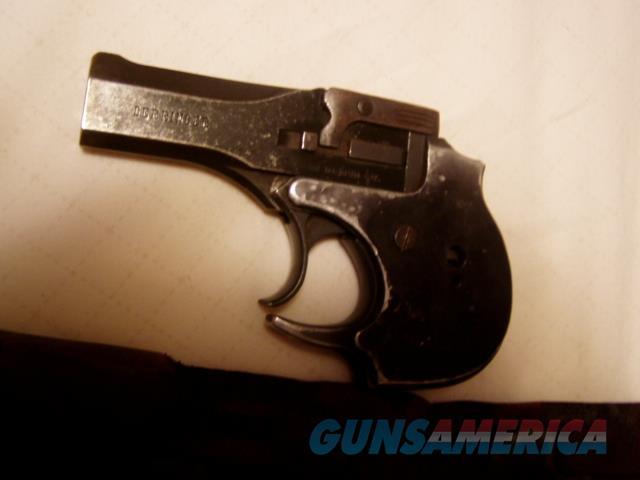 HIGH STANDARD HAMDEN Blue 22 Magnum Derringer W/Wallet Holster   Guns > Pistols > High Standard Pistols