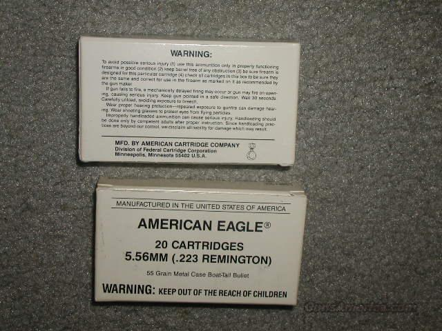 REDEUCED PRICE  *American Eagle (Federal)5.56mm (.223 Remington)  Non-Guns > Ammunition