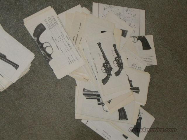 **MUST CALL***S & W  Instruction Spec /Parts Sheet   Non-Guns > Books & Magazines