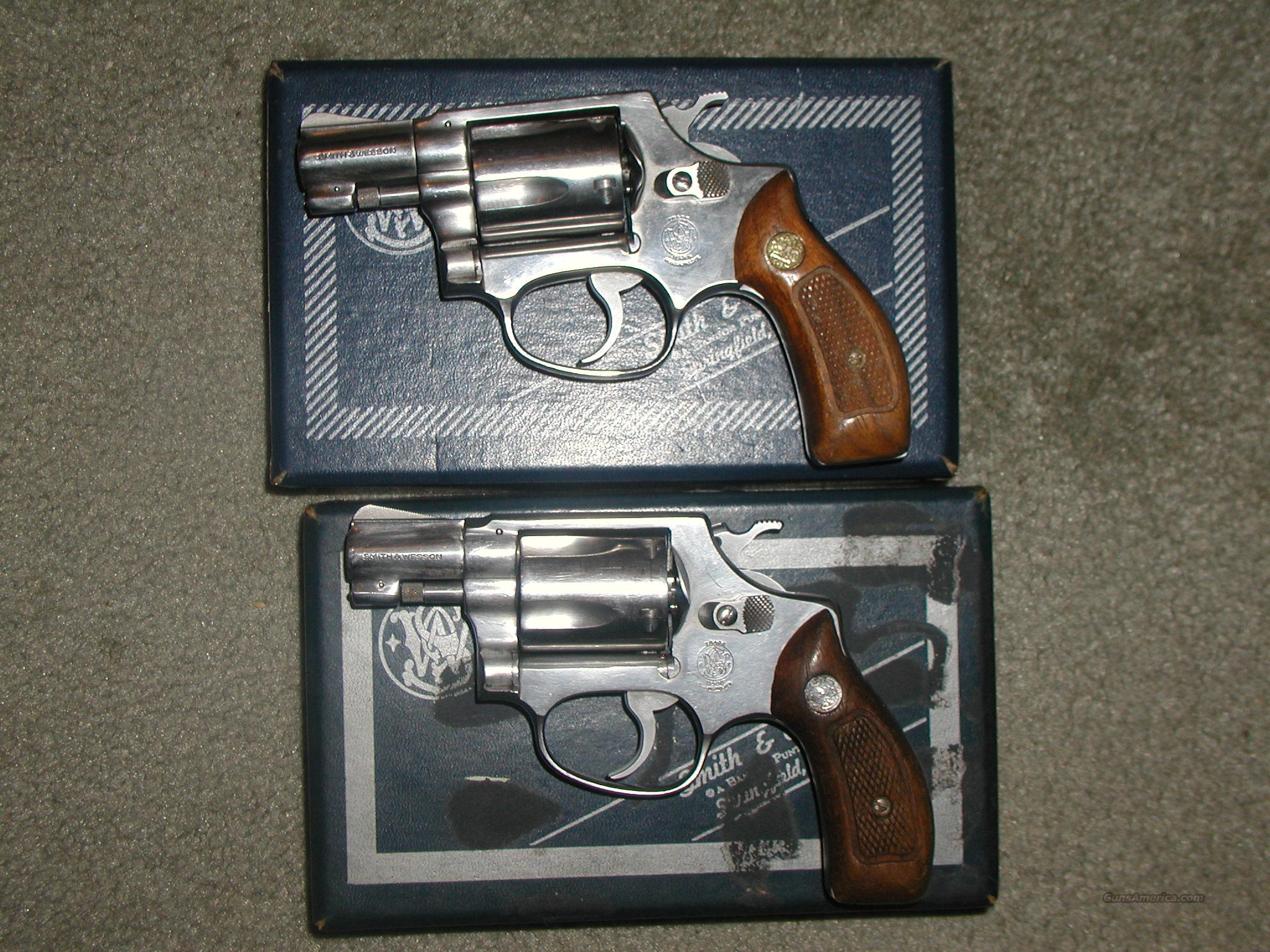 PAIR S&W 60 PINNED 38 SPECIAL R  Prefix  Guns > Pistols > Smith & Wesson Revolvers > Full Frame Revolver