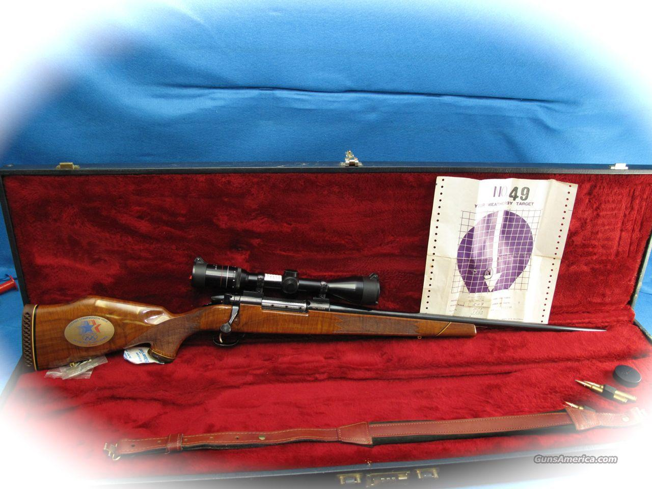 Weatherby Mark V Bolt Action Rifle 1984 Olympic Game Comm. **USED**  Guns > Rifles > Weatherby Rifles > Sporting