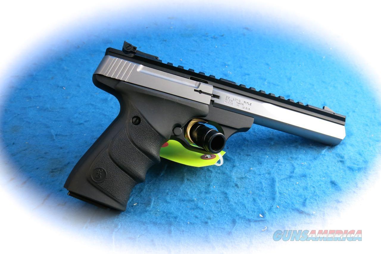 Browning Buck Mark Contour Stainless .22 LR Pistol **New**  Guns > Pistols > Browning Pistols > Buckmark