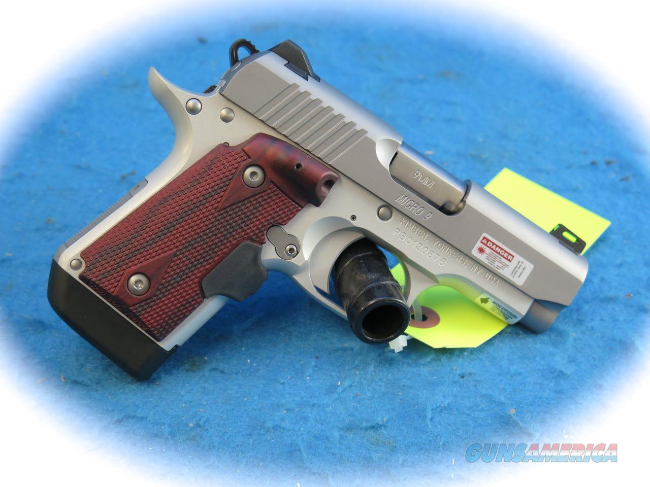 Kimber Micro 9 Stainless Rosewood 9mm Pistol with Laser Grip **New**  Guns > Pistols > Kimber of America Pistols > Micro 9