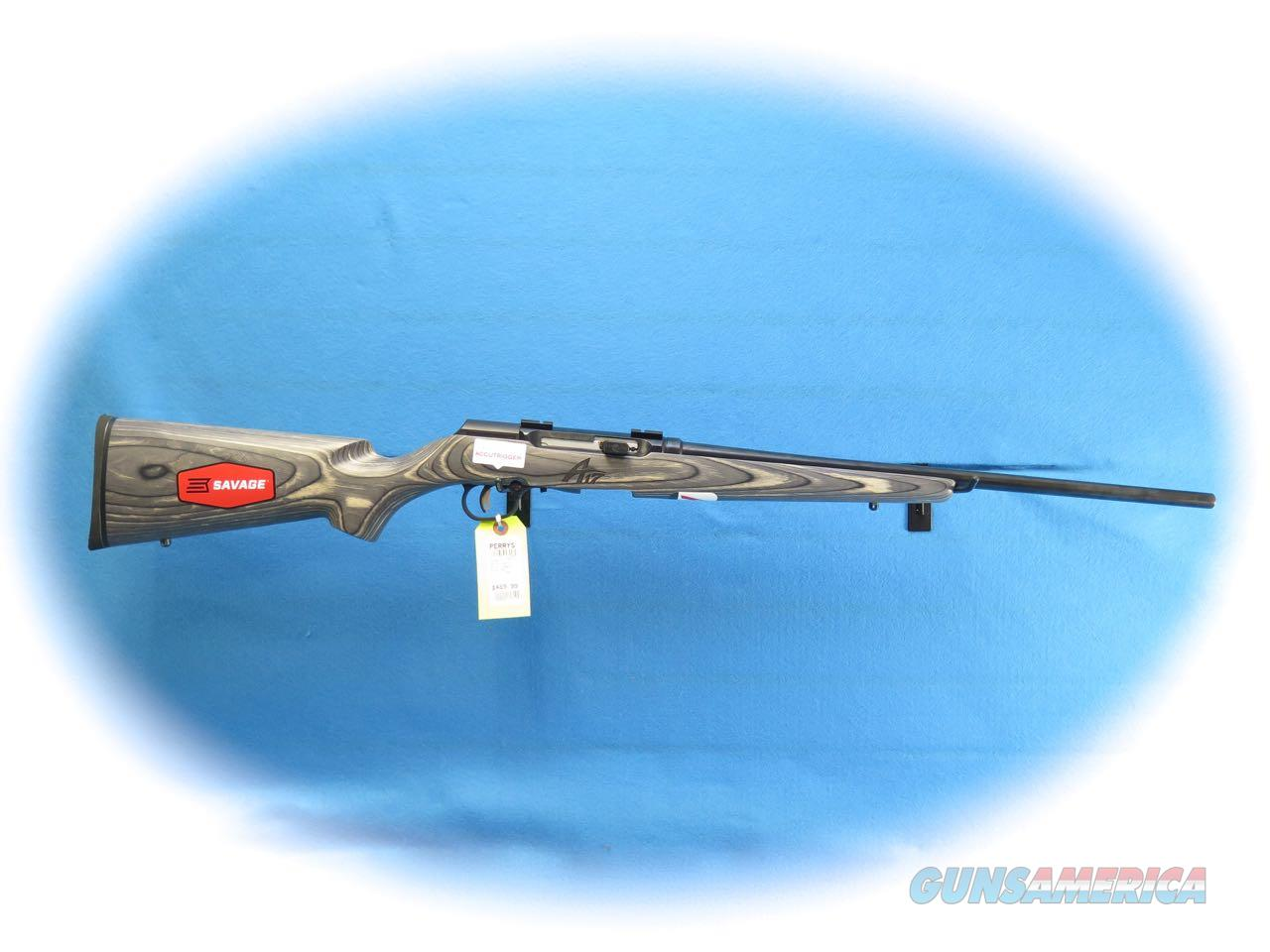 Savage A17 Sporter Laminate .17 HMR Semi Auto Rifle Item 47008 **New**  Guns > Rifles > Savage Rifles > Accutrigger Models > Sporting