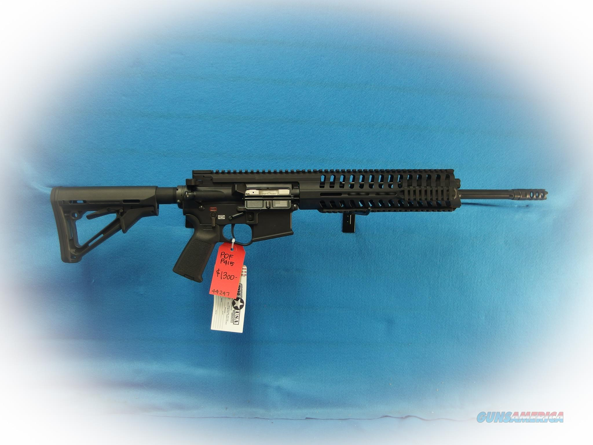 POF Model 415 Gas Piston 5.56mm Semi Auto Rifle **New** On Sale  Guns > Rifles > AR-15 Rifles - Small Manufacturers > Complete Rifle