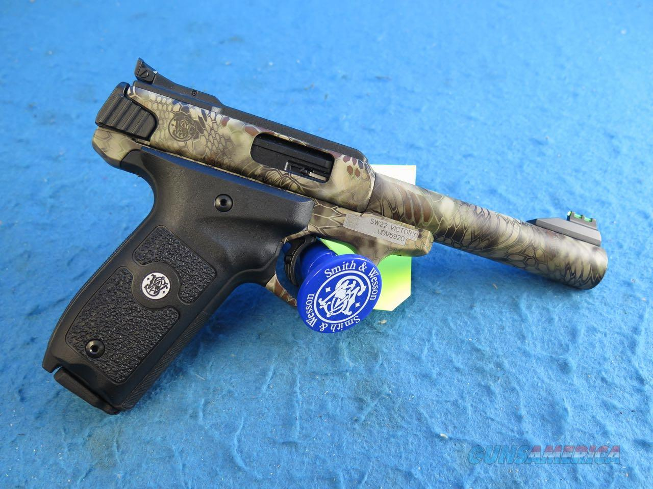 Smith & Wesson SW22 Victory Kryptek Semi Auto .22 LR Pistol SKU 10297 **New**  Guns > Pistols > Smith & Wesson Pistols - Autos > .22 Autos