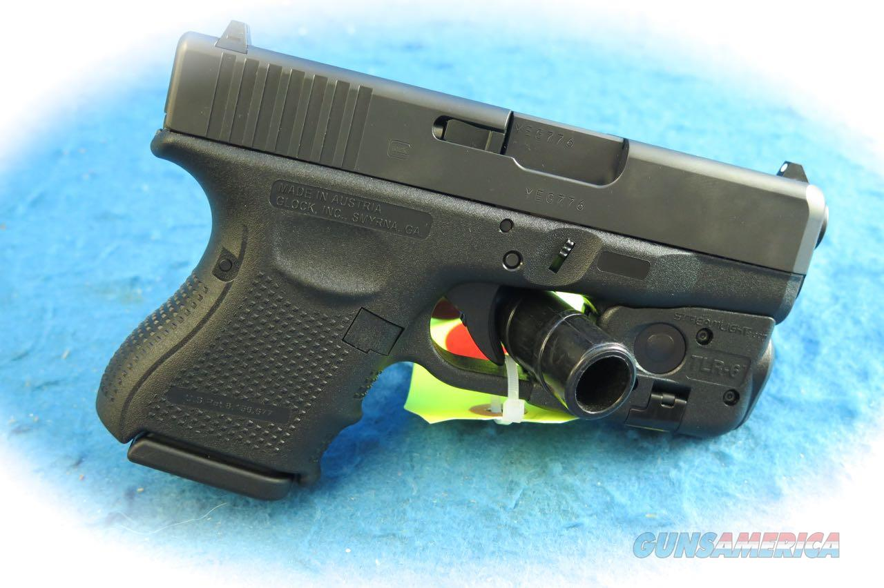 Glock Model 27 Gen 4 .40 S&W Pistol w/Streamlight TLR-6 Laser/Light **Used**  Guns > Pistols > Glock Pistols > 26/27