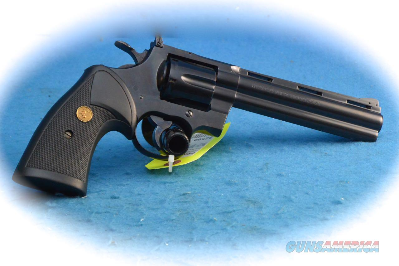 "Colt Python Blue Steel DA Revolver 6"" BBL .357 Mag Cal **Used**  Guns > Pistols > Colt Double Action Revolvers- Modern"