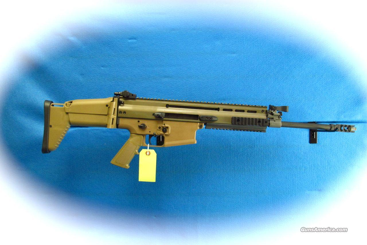 FNH SCAR 17S 7.62MM Rifle FDE **New**  Guns > Rifles > FNH - Fabrique Nationale (FN) Rifles > Semi-auto > Other