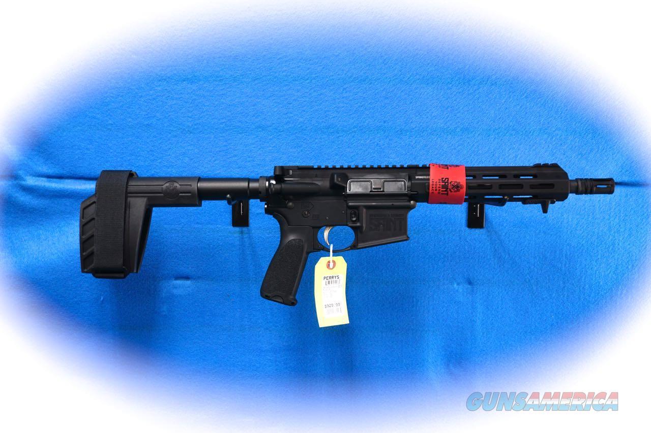 Springfield Armory Saint Pistol .300 Blackout W/ Brace Model ST909300B **New**  Guns > Pistols > Springfield Armory Pistols > SAINT Pistol
