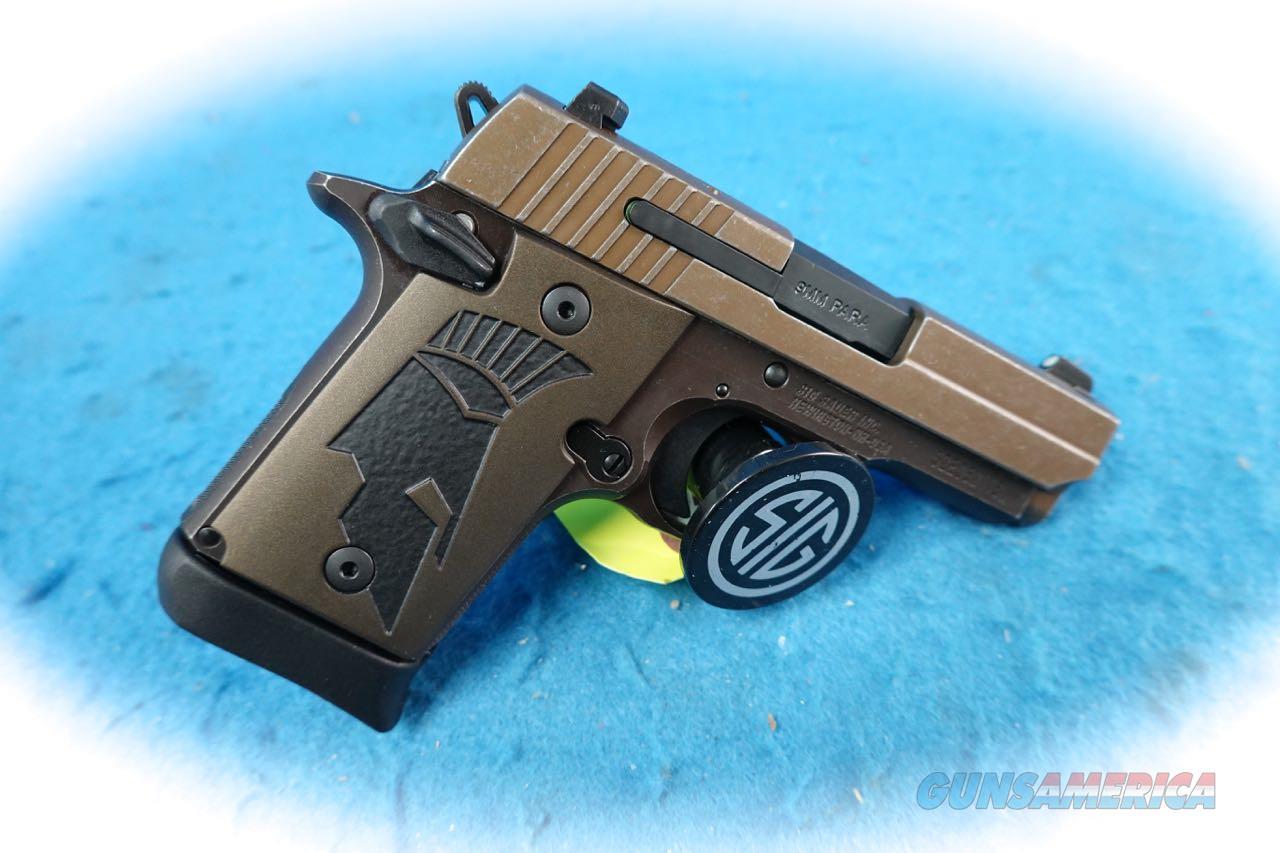 Sig Sauer P938 Spartan II 9mm Semi Auto Pistol Model 938-9-SPARTANII-AMBI **New**  Guns > Pistols > Sig - Sauer/Sigarms Pistols > P938