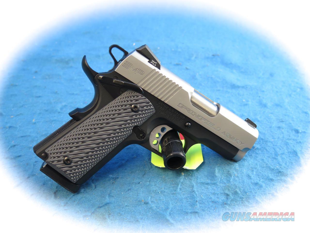 Springfield Armory 1911 EMP 9mm Semi Auto Pistol 2-Tone **New**  Guns > Pistols > Springfield Armory Pistols > 1911 Type