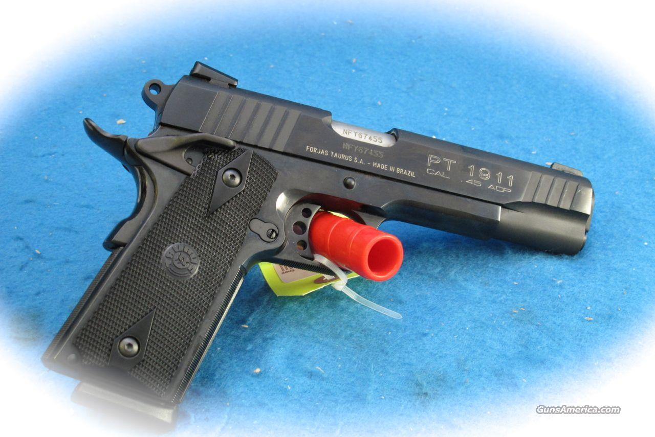 Taurus 1911 .45 ACP PIstol Blue Steel **New** CLOSEOUT SALE!!!!!  Guns > Pistols > Taurus Pistols/Revolvers > Pistols > Steel Frame