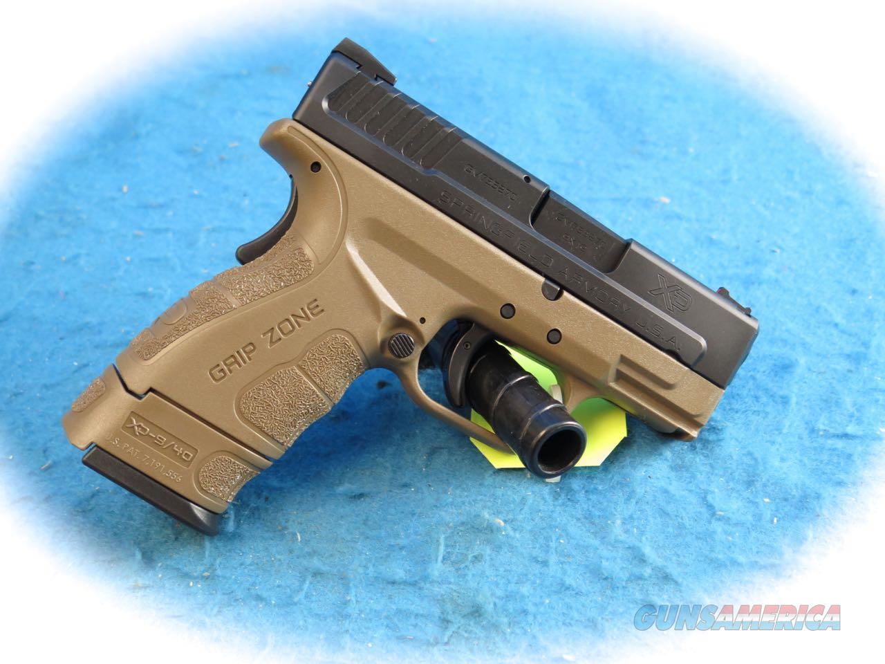Springfield Armory XD Mod 2 Sub-Compact 9mm Pistol FDE Model XDG9801FDEHC **New**  Guns > Pistols > Springfield Armory Pistols > XD-Mod.2
