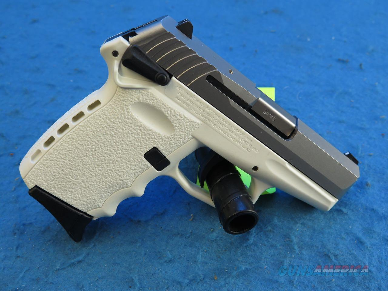 SCCY Model CPX-1 CBWT 9mm Pistol White/SS **New**  Guns > Pistols > SCCY Pistols > CPX1