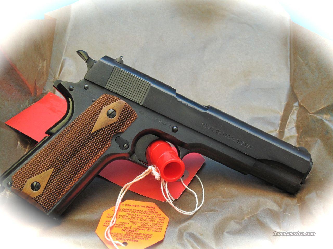 Colt M1911 WW1 45 ACP Pistol Black Oxide **NEW*... for sale M1911 Pistol Ww1