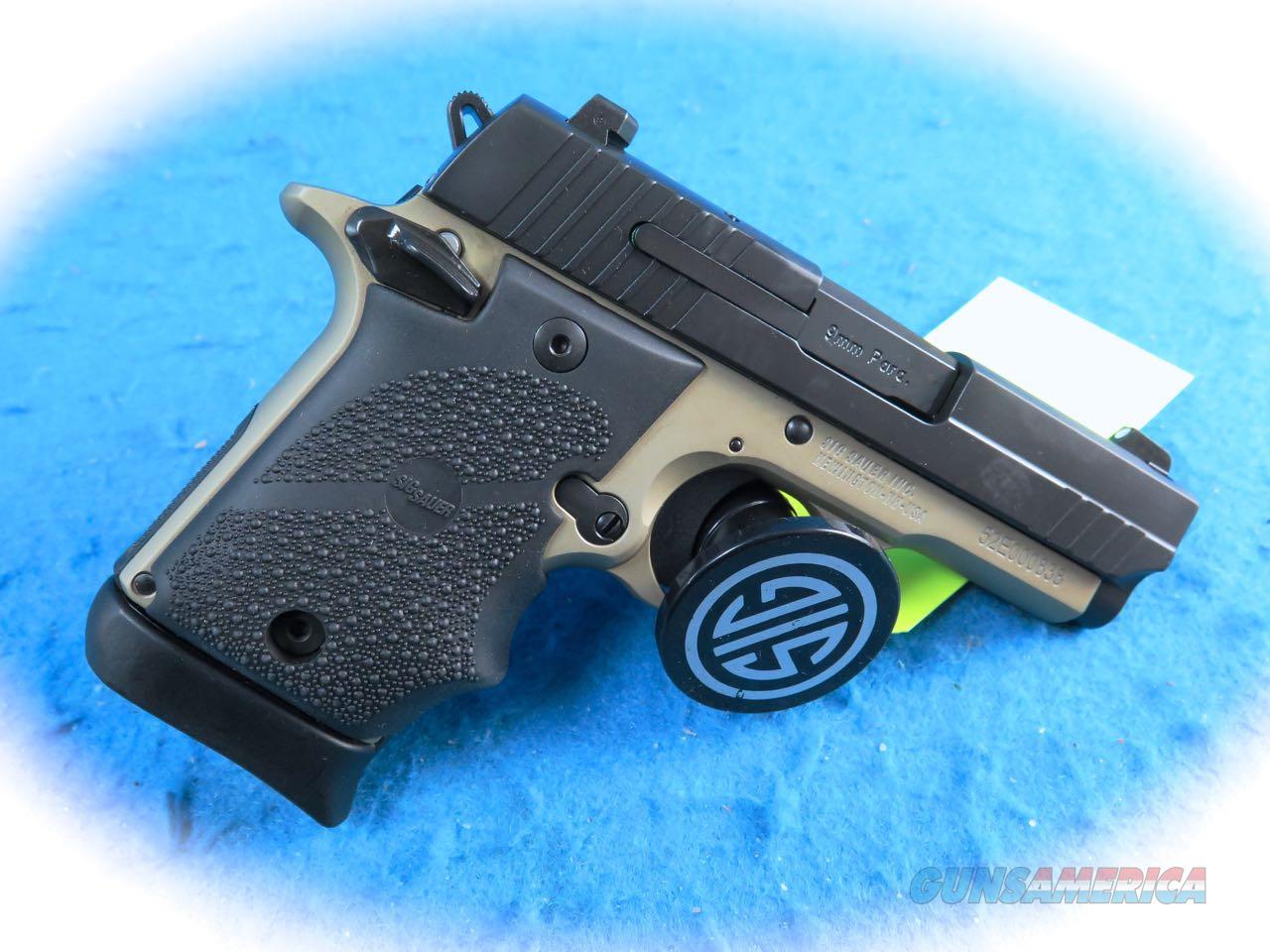 Sig Sauer P938 9mm Semi Auto Pistol Desert/Black Model 938-9-DB-AMBI **New**  Guns > Pistols > Sig - Sauer/Sigarms Pistols > P938