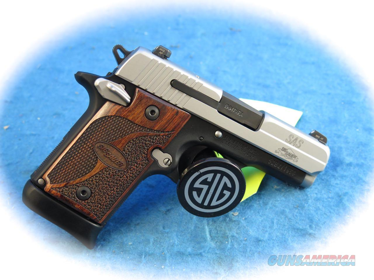 Sig Sauer P938 SAS Micro Compact 9mm Pistol Model 938-9-SAS-AMBI **New**  Guns > Pistols > Sig - Sauer/Sigarms Pistols > P938