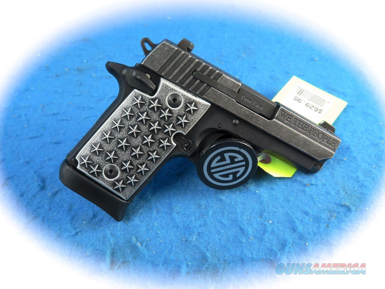 "Sig Sauer P938 ""We The People"" 9mm Semi Auto Pistol Model 938-9-WTP **New**  Guns > Pistols > Sig - Sauer/Sigarms Pistols > P938"