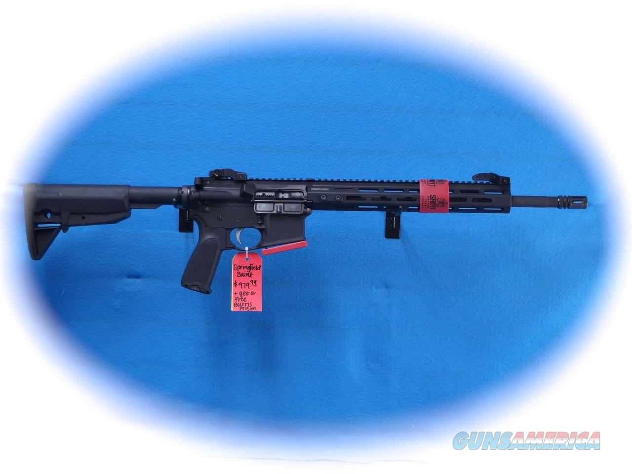 Springfield Armory Saint AR-15 Rifle 5.56mm Cal w/Burris Prism Sight **New**  Guns > Rifles > Springfield Armory Rifles > SAINT