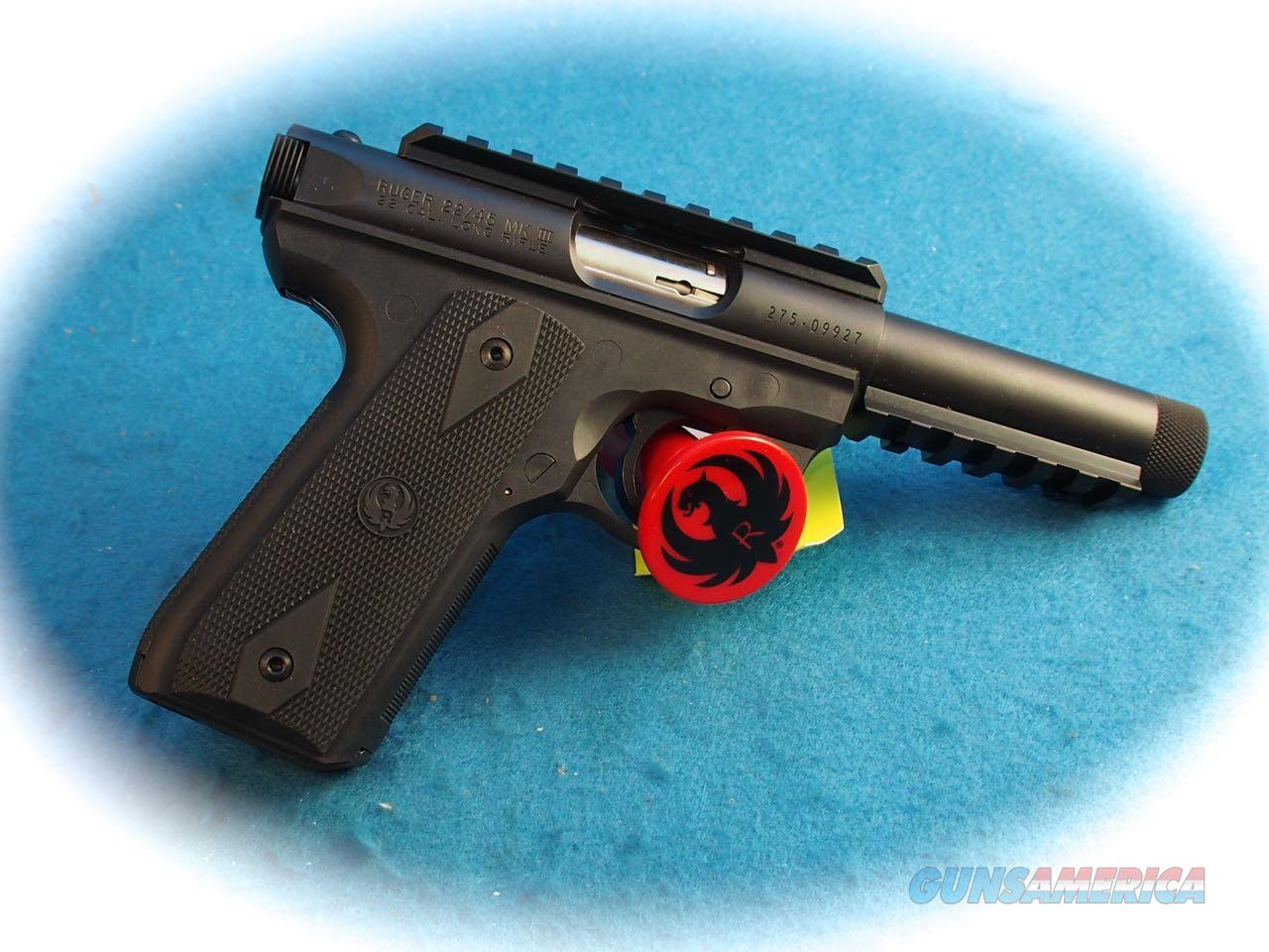 Ruger 22/45 .22LR Semi Auto Pistol Threaded Barrel Model 10149 **New**  Guns > Pistols > Ruger Semi-Auto Pistols > 22/45