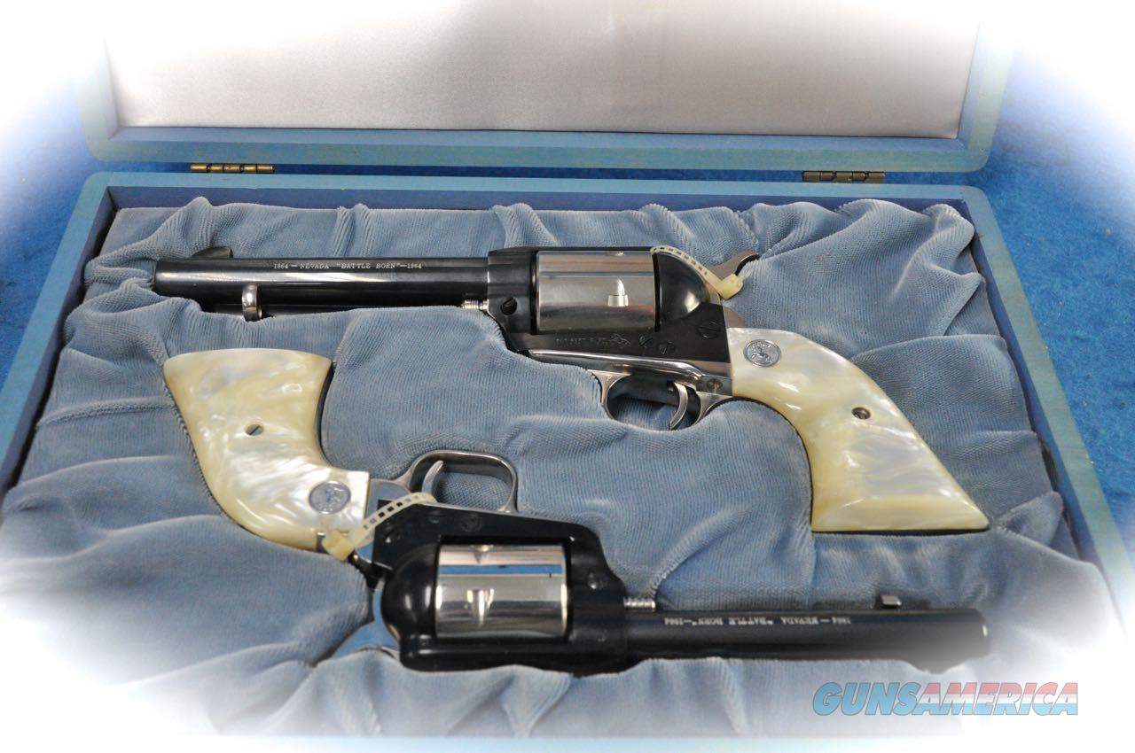 "Colt 1964 Nevada ""Battle Born"" SAA/Scout Combo .45 Colt/.22LR **Used**  Guns > Pistols > Colt Single Action Revolvers - 2nd Gen."
