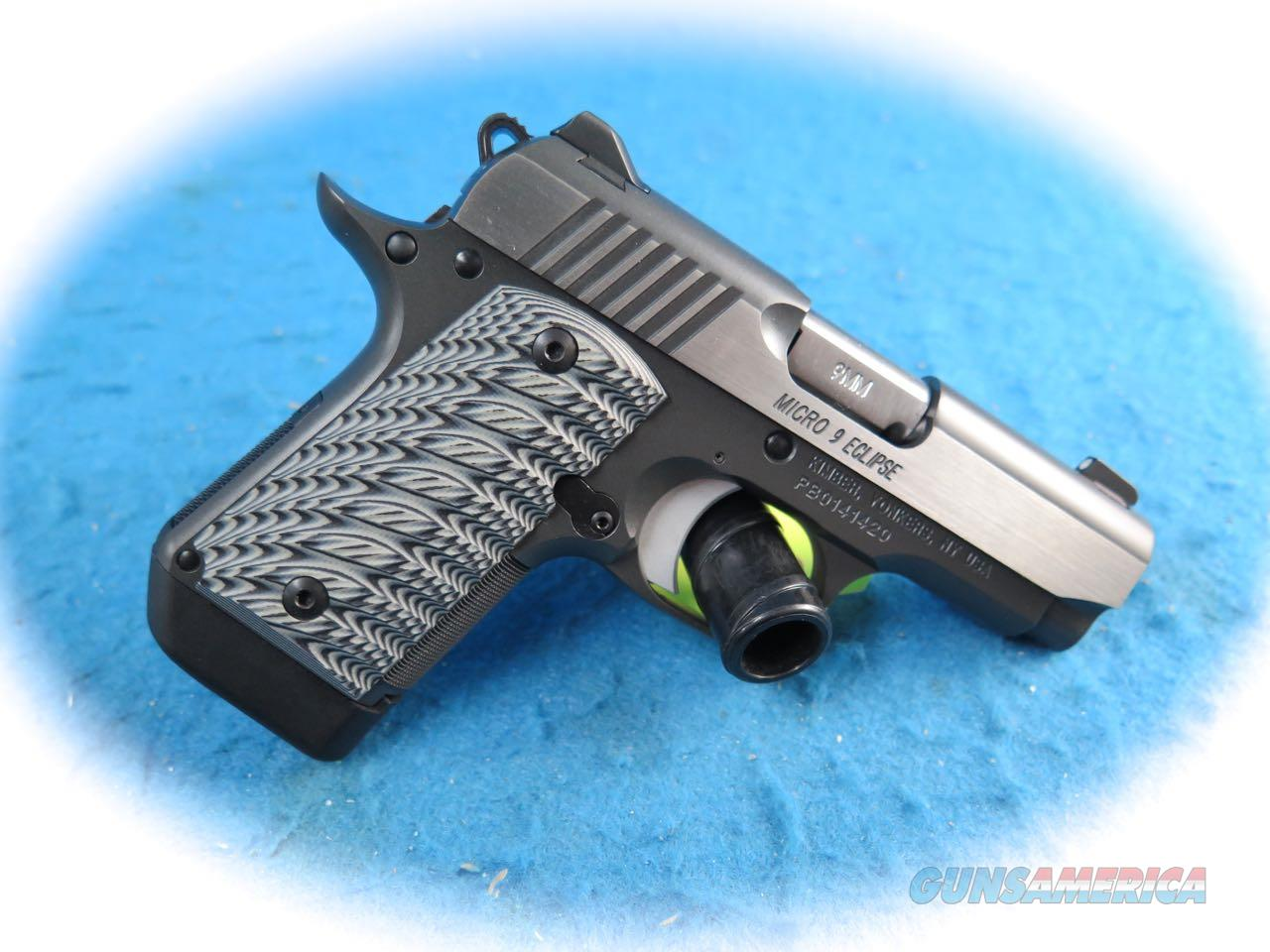 Kimber Micro9 Eclipse 9mm Semi Auto Pistol **New**  Guns > Pistols > Kimber of America Pistols > Micro 9