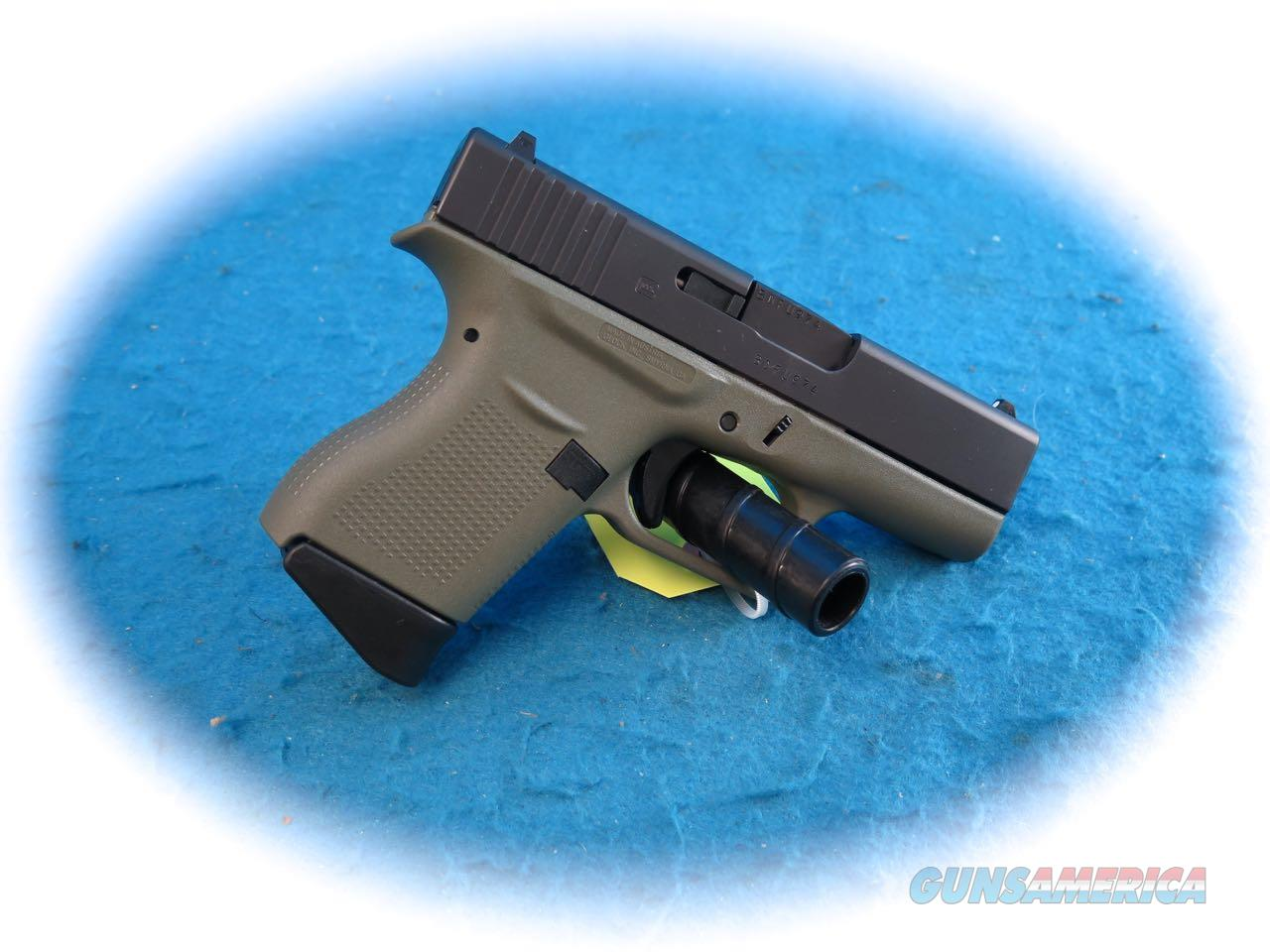 "Glock Model 43 9mm Pistol ""OD Green Frame""  **New**  Guns > Pistols > Glock Pistols > 43"