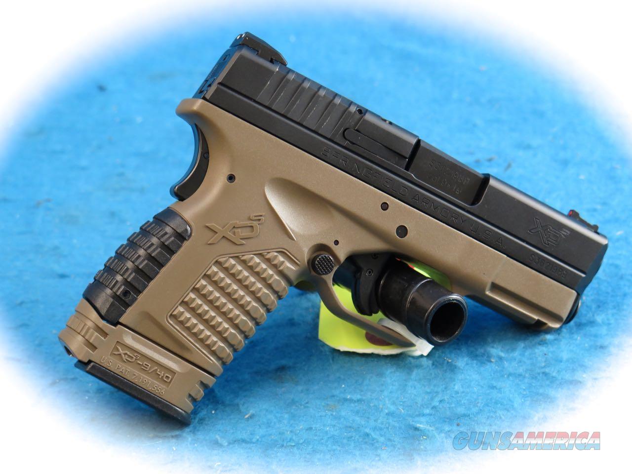 Springfield Armory XDS 9mm Semi Auto Pistol 3.3 FDE **New**  Guns > Pistols > Springfield Armory Pistols > XD-S