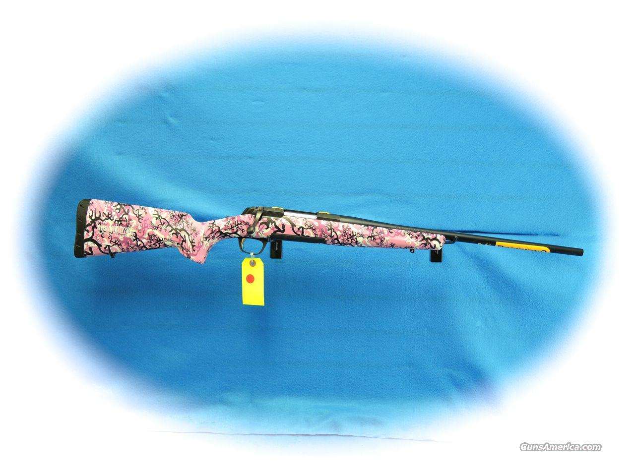 Browning X-Bolt Micro Buckthorn Pink Camo .243 Win Rifle **New**  Guns > Rifles > Browning Rifles > Bolt Action > Hunting > Blue