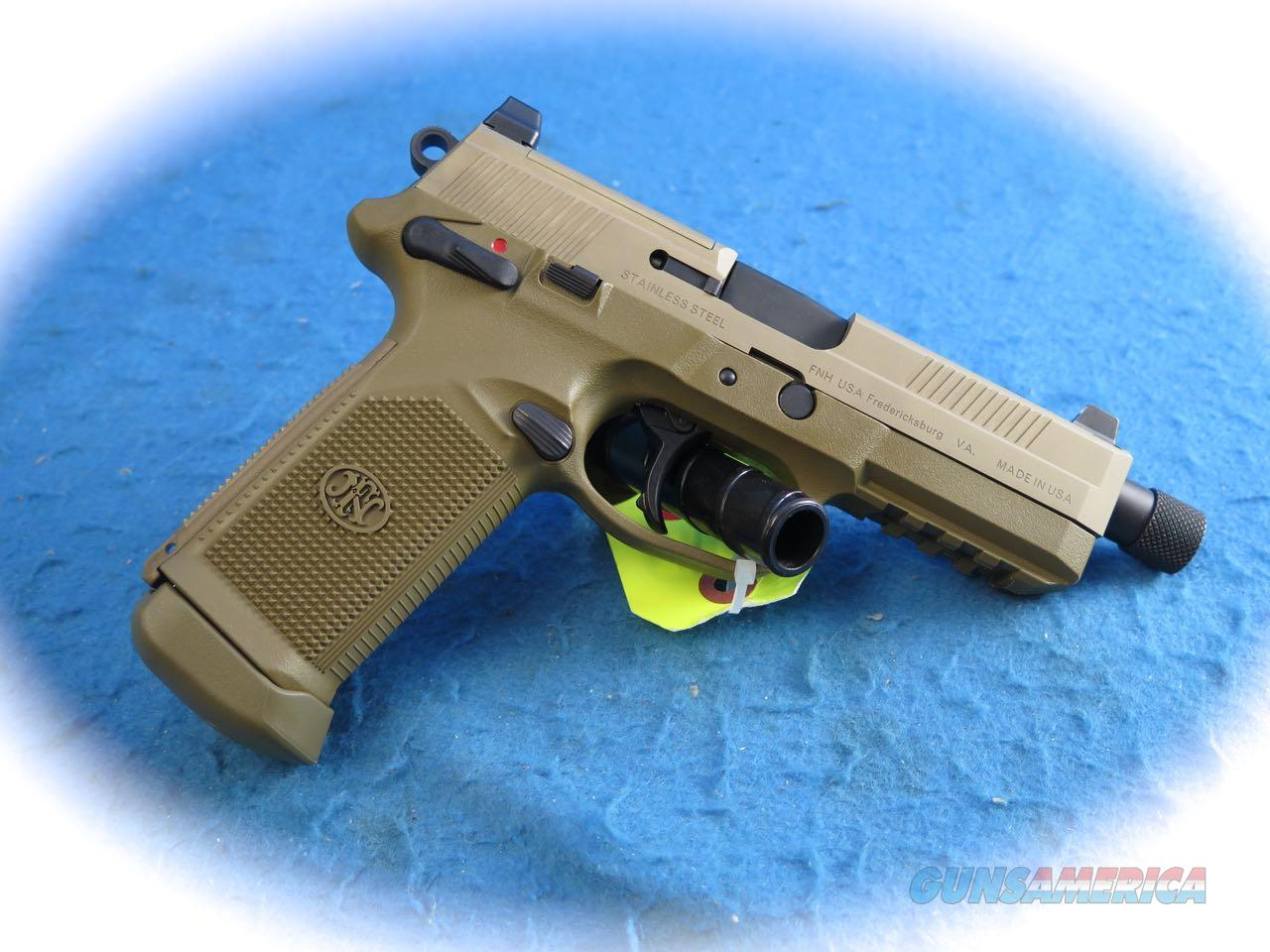 FNH FNX Tactical .45 ACP Pistol FDE W/ Threaded BBL **New**  Guns > Pistols > FNH - Fabrique Nationale (FN) Pistols > FNX