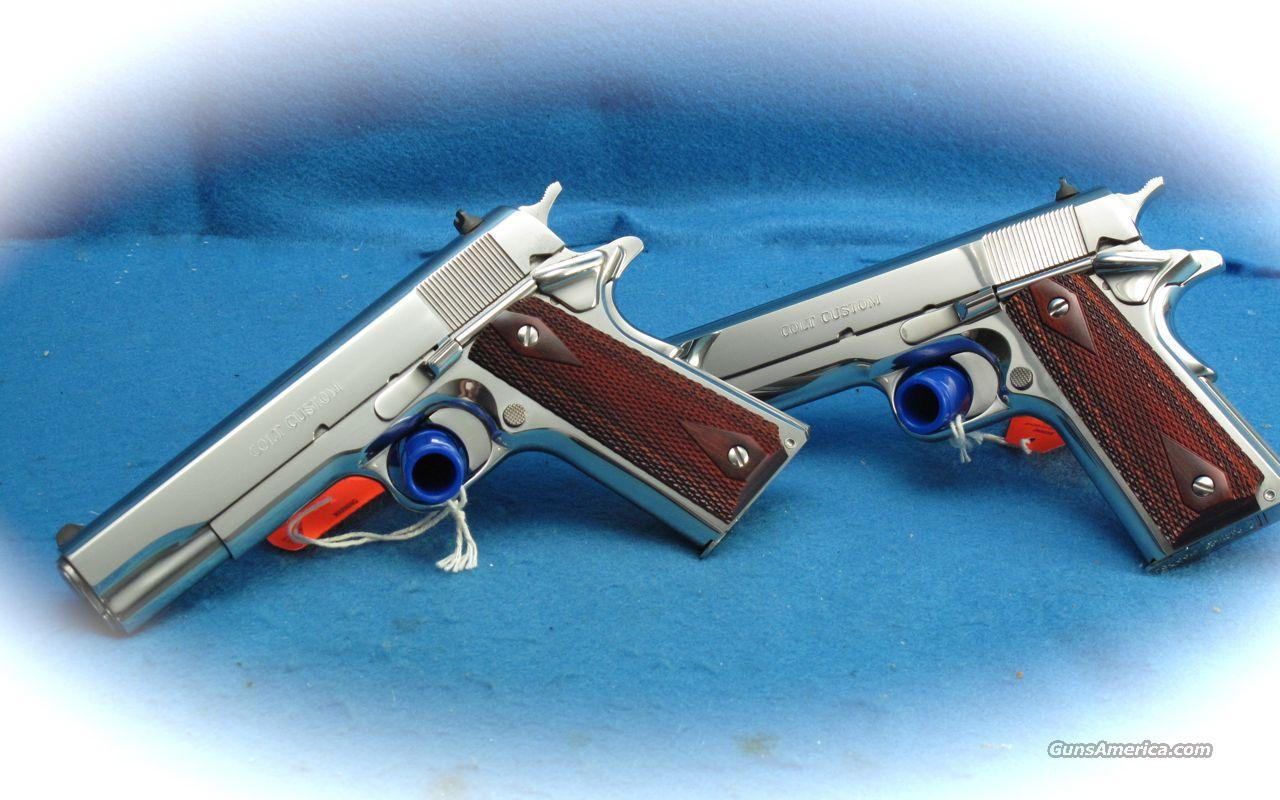 Colt 38 Super Custom Government Model 1911 Pistols **CONSECUTIVE SERIAL NUMBER PAIR**  AS NEW  Guns > Pistols > Colt Automatic Pistols (1911 & Var)