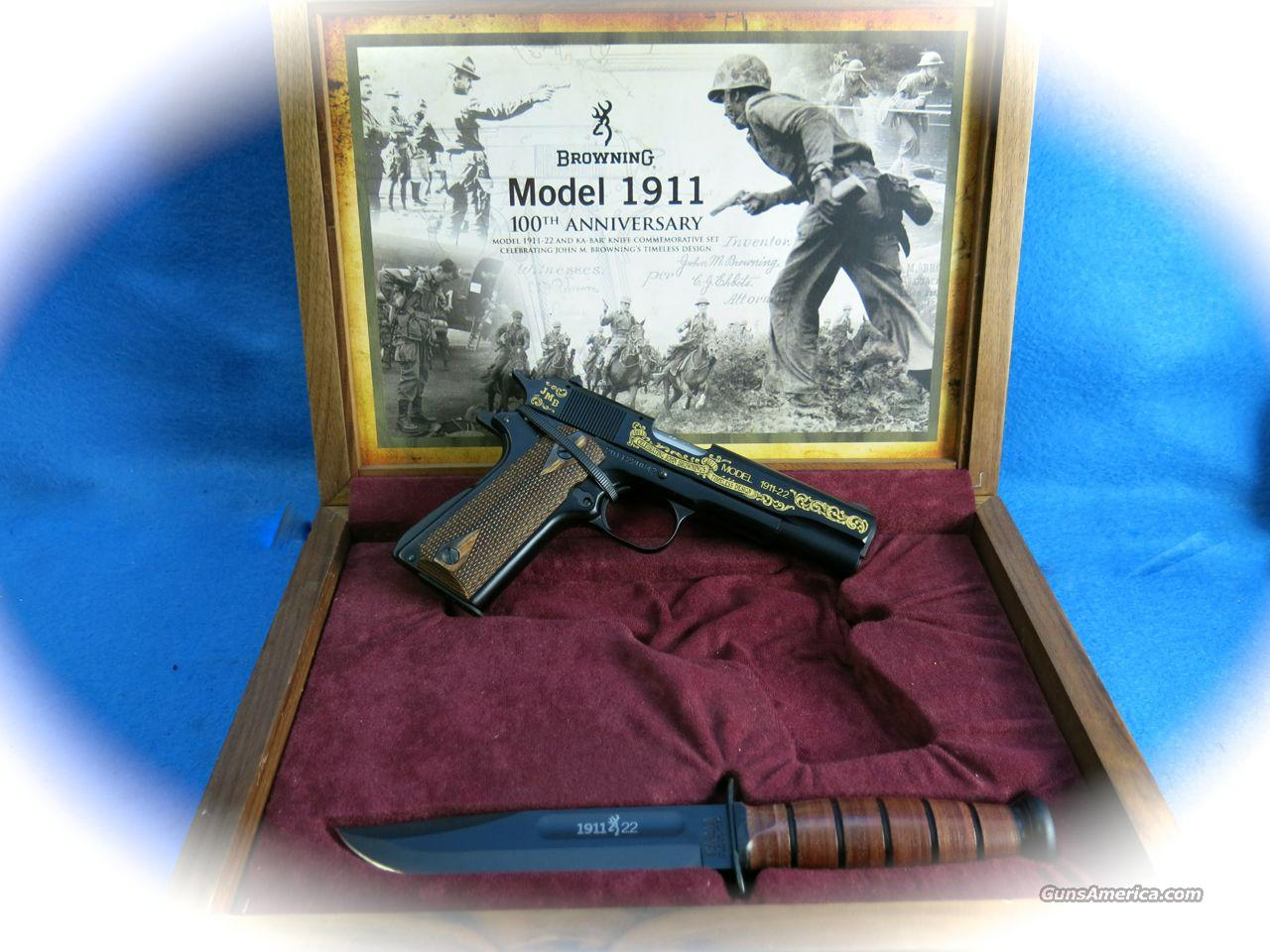 **SALE!!** Browning 1911-22 100th Anniversary Commemorative W/ Knife **New**  Guns > Pistols > Browning Pistols > Other Autos