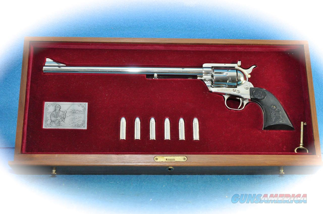 "Colt SA Frontier ""Ned Buntline Commemorative"" Revolver .45 Colt **As New**  Guns > Pistols > Colt Commemorative Pistols"