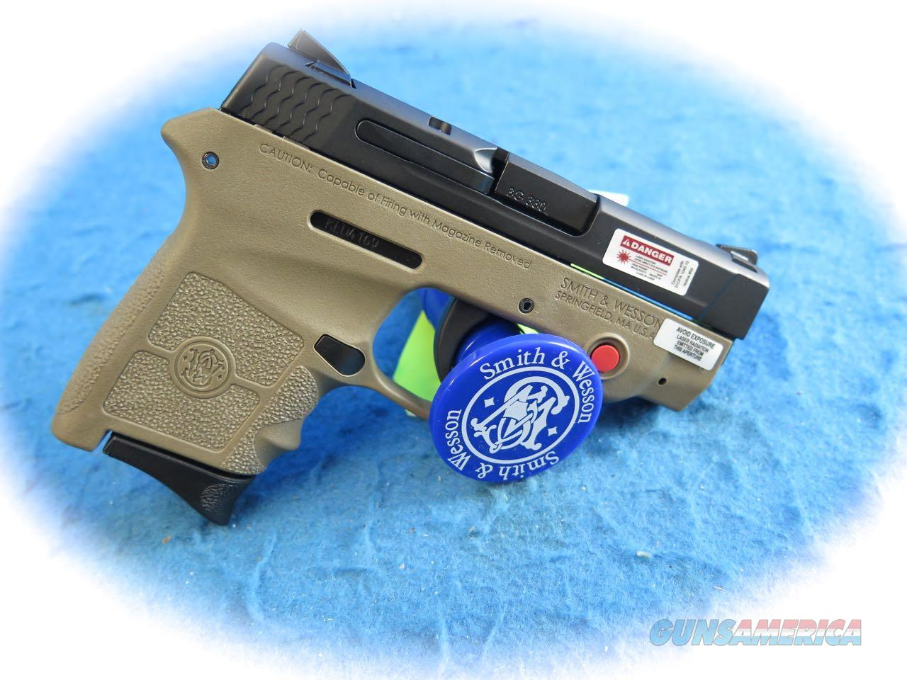 Smith & Wesson M&P Bodyguard 380 W CT Laser FDE W/TS  SKU 10168 **New**  Guns > Pistols > Smith & Wesson Pistols - Autos > Polymer Frame