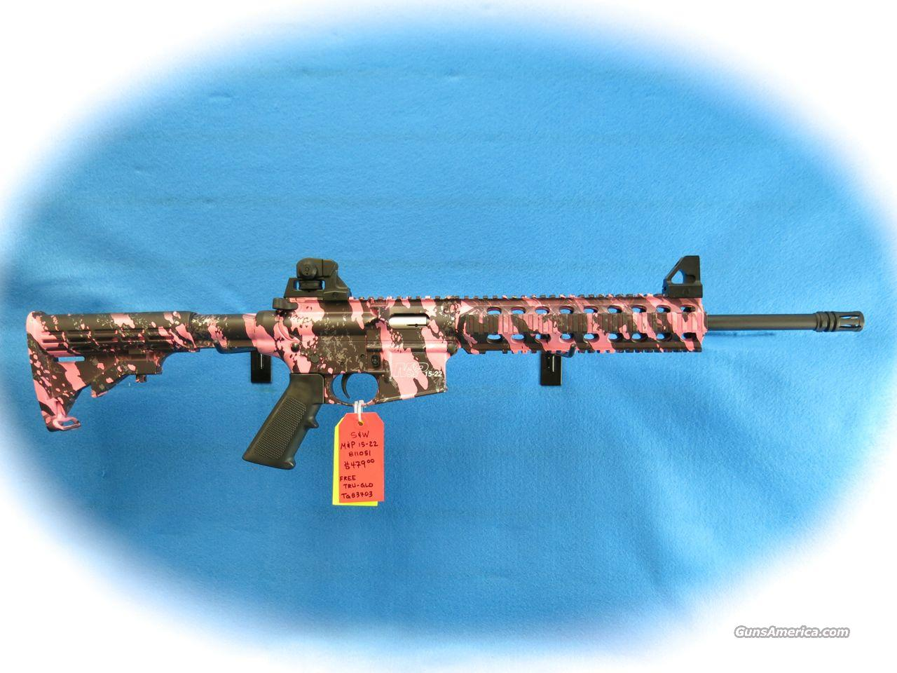 **SALE!!** S&W Model M&P15-22 - Pink Platinum, Threaded Barrel with A1 Style Comp **NEW**   Guns > Rifles > Smith & Wesson Rifles > M&P