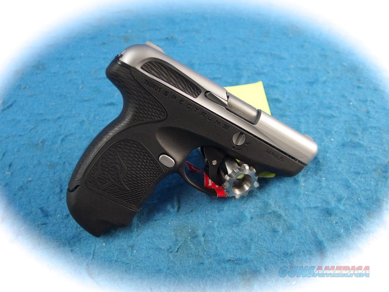 Taurus Spectrum .380 ACP Pistol w/Stainless Slide  **New**  Guns > Pistols > Taurus Pistols > Semi Auto Pistols > Polymer Frame