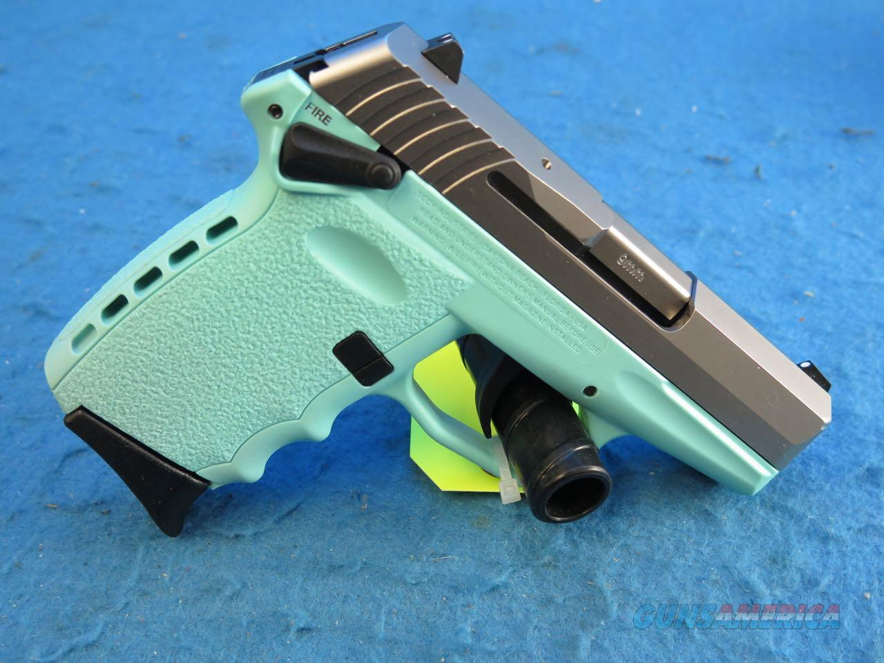 SCCY Model CPX-1 TTSB 9mm Pistol Blue/SS **New**  Guns > Pistols > SCCY Pistols > CPX1
