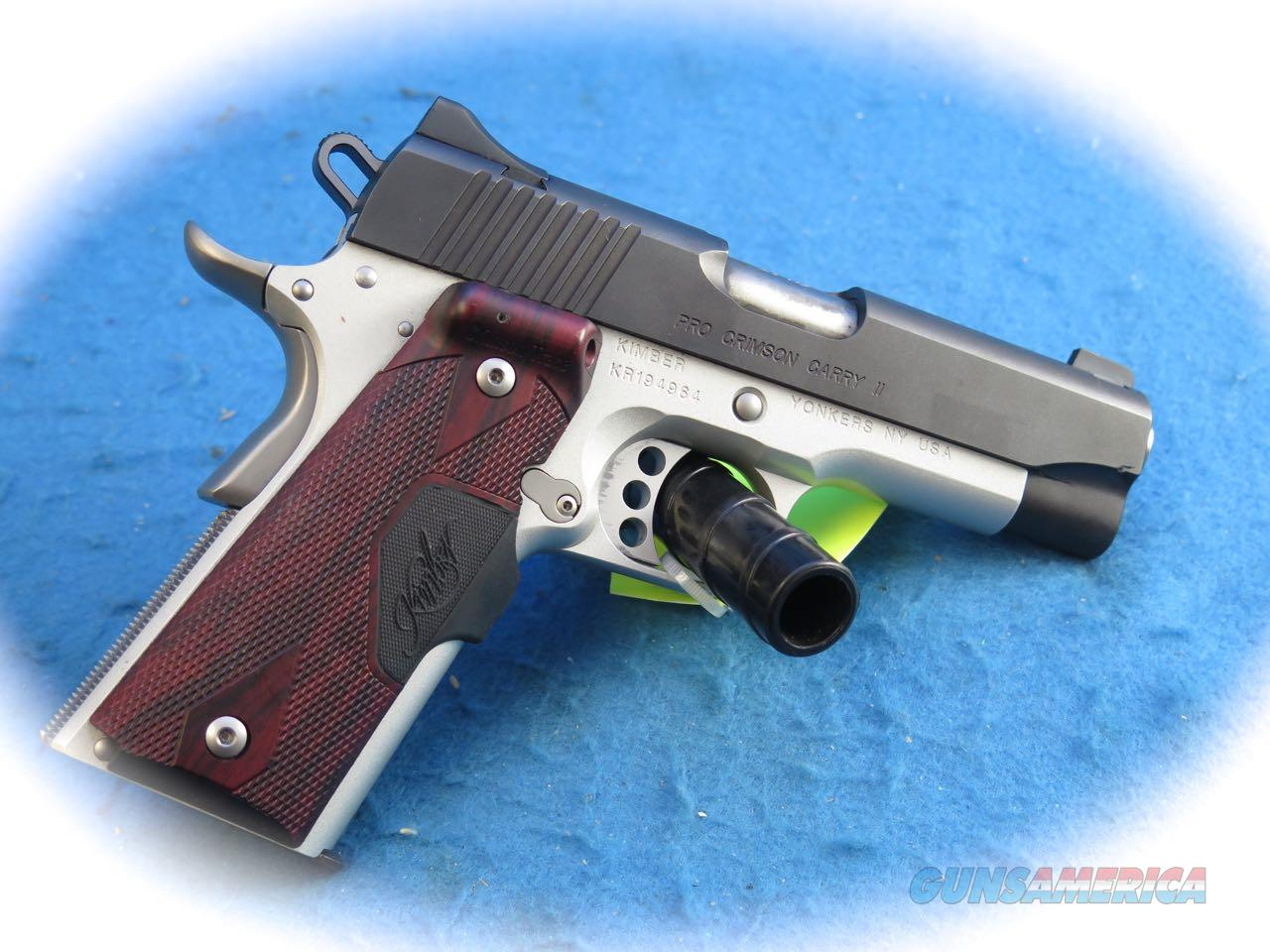 PRICE REDUCED Kimber Pro Crimson Carry II .45 ACP Pistol W/Green Laser **Used**   Guns > Pistols > Kimber of America Pistols