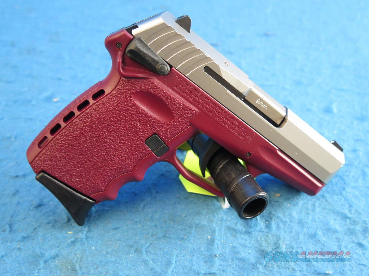 SCCY Model CPX-1 TTCR 9mm Pistol Crimson/Stainless **New**  Guns > Pistols > SCCY Pistols > CPX1