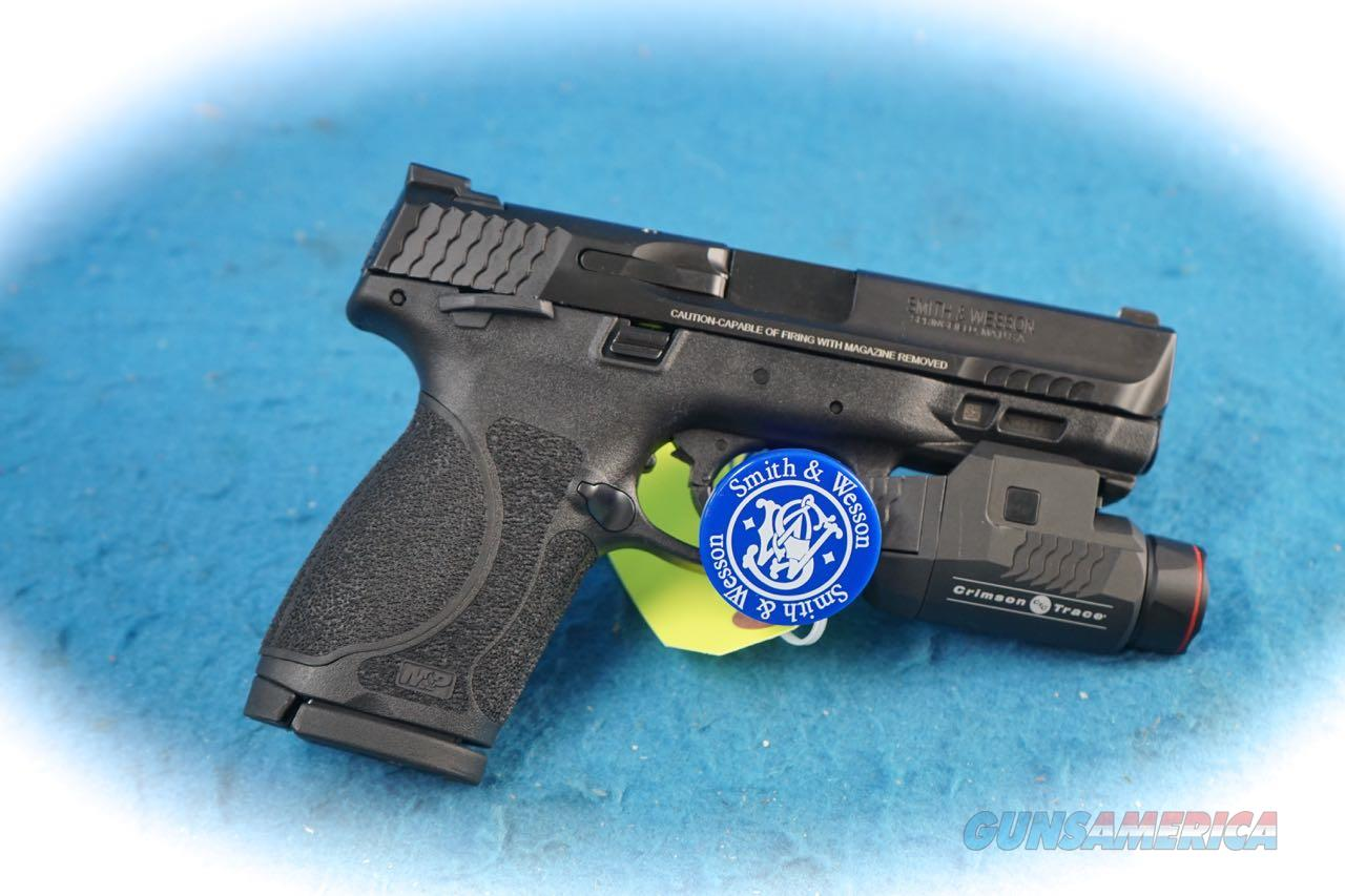 "Smith & Wesson M&P9 2.0 4 "" Compact w/Crimson Trace Light W/Thumb Safety  **New**  Guns > Pistols > Smith & Wesson Pistols - Autos > Polymer Frame"