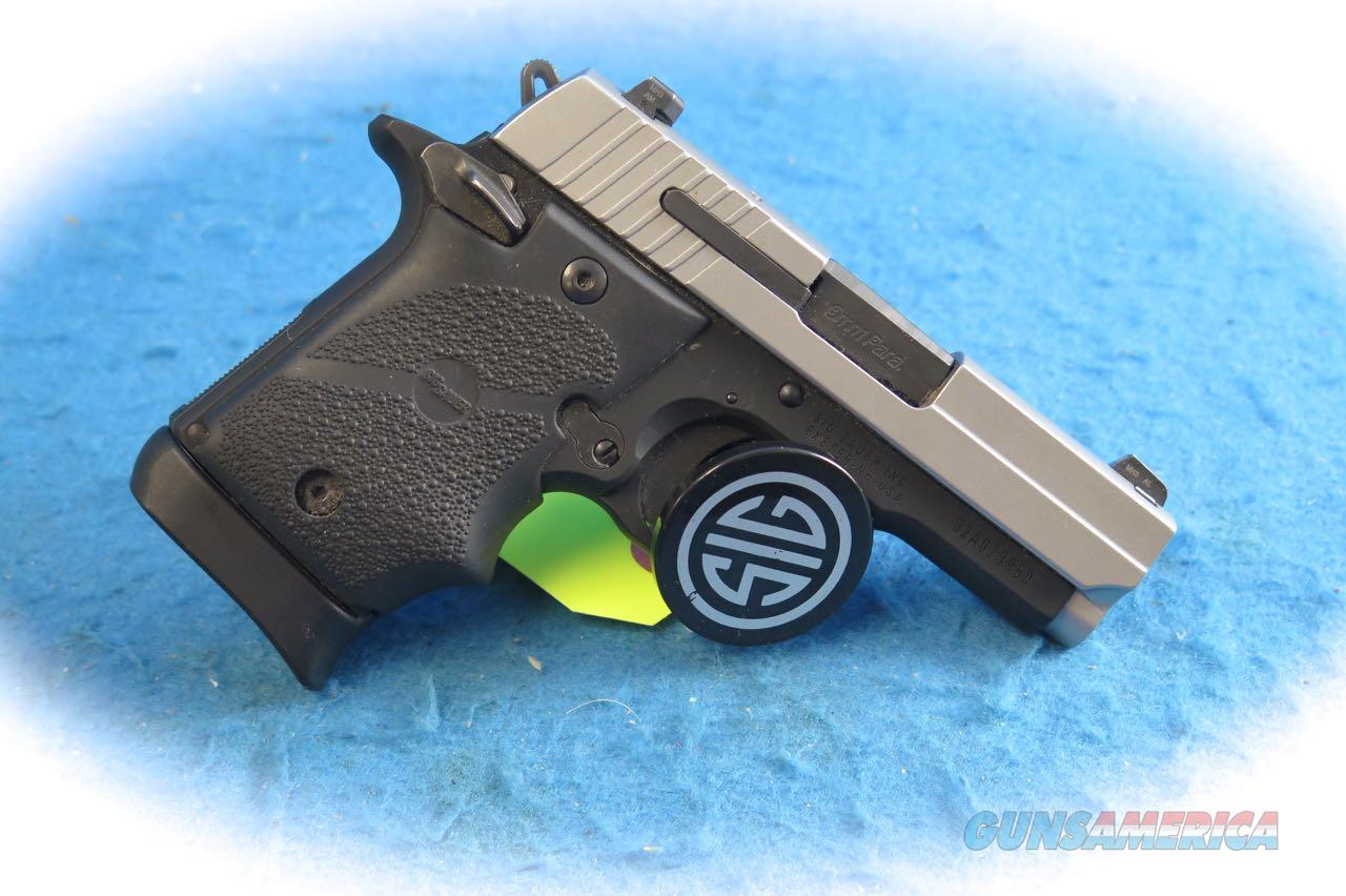 Sig Sauer P938 2-Tone 9mm Micro Compact Pistol **Used**  Guns > Pistols > Sig - Sauer/Sigarms Pistols > P938