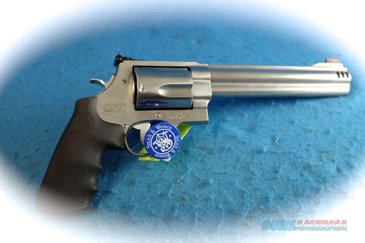 "Smith & Wesson Model S&W500 SS 8 3/8"" .500 S&W Magnum Cal **New**  Guns > Pistols > Smith & Wesson Revolvers > Full Frame Revolver"