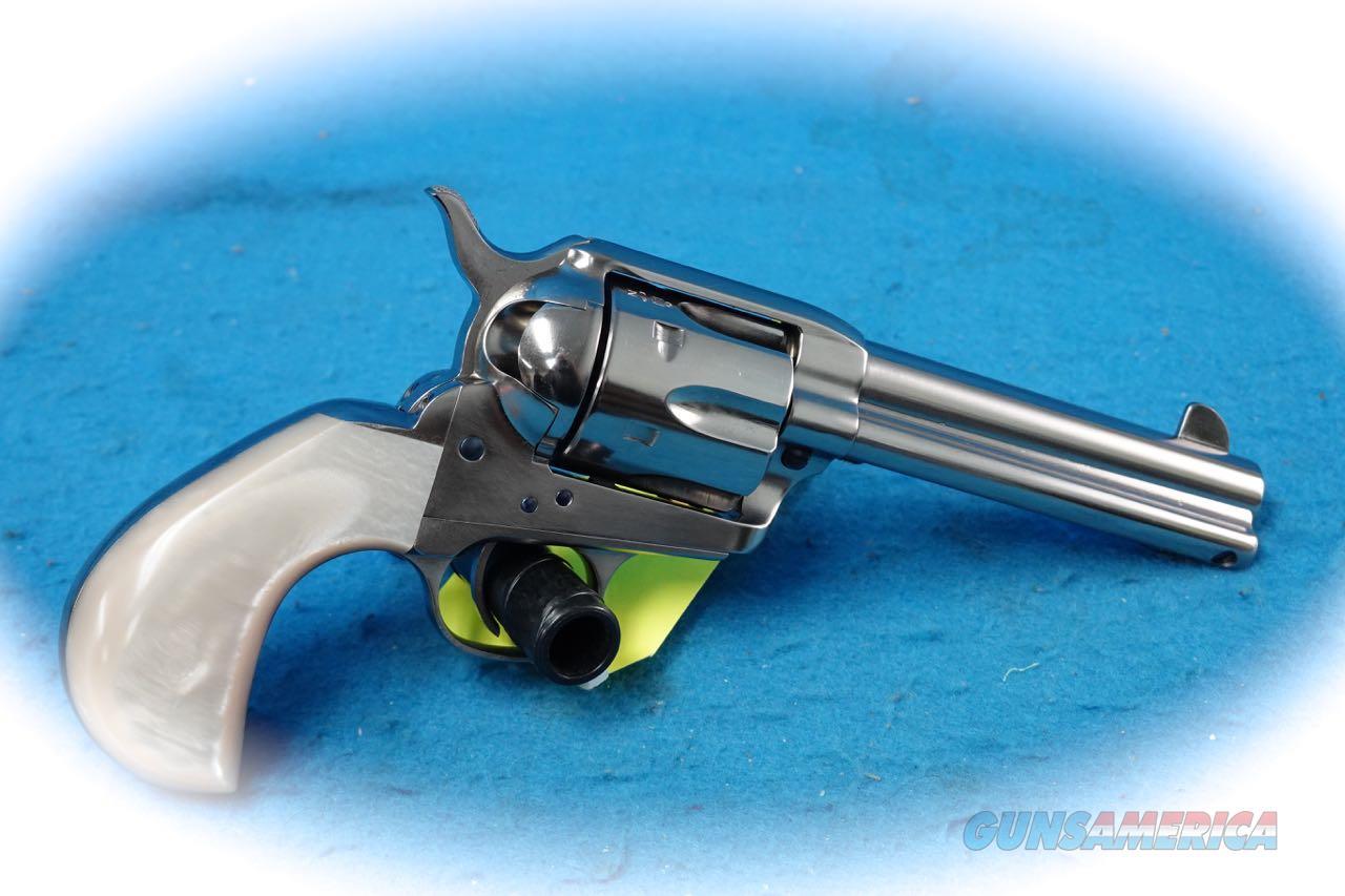 Uberti 1873 Cattleman O&L Doc .45 Colt Revolver Nickel **New**  Guns > Pistols > Uberti Pistols > Ctg.